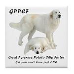 Great Pyrenees Potato Chip Tile Coaster