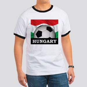 Hungary Football Ringer T