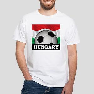 Hungary Football White T-Shirt