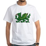 Green Dragon White T-Shirt