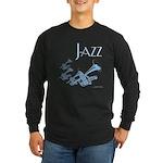 Jazz Trumpet Blue Long Sleeve Dark T-Shirt