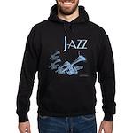 Jazz Trumpet Blue Hoodie (dark)