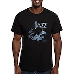 Jazz Trumpet Blue Men's Fitted T-Shirt (dark)