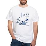 Jazz Trumpet Blue White T-Shirt