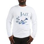Jazz Trumpet Blue Long Sleeve T-Shirt