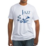 Jazz Trumpet Blue Fitted T-Shirt