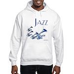 Jazz Trumpet Blue Hooded Sweatshirt