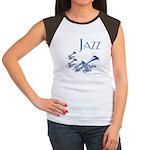 Jazz Trumpet Blue Women's Cap Sleeve T-Shirt