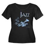 Jazz Trumpet Blue Women's Plus Size Scoop Neck Dar