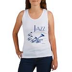 Jazz Trumpet Blue Women's Tank Top