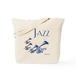 Jazz Trumpet Blue Tote Bag