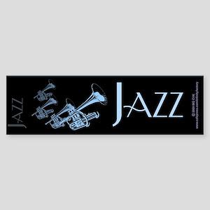 Jazz Trumpet Blue Bumper Sticker