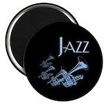 Jazz Trumpet Blue Magnet