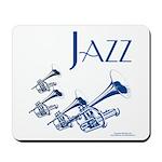 Jazz Trumpet Blue Mousepad