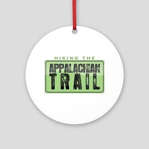 Hiking the Appalachian Trail Round Ornament
