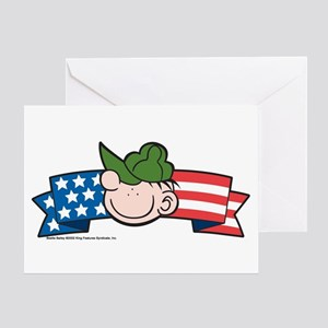 Star-Spangled Beetle Banner Greeting Card
