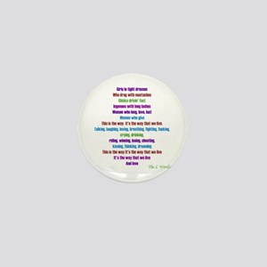 L Word Theme Lyrics Mini Button