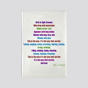 L Word Theme Lyrics Rectangle Magnet