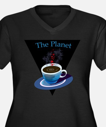 The Planet Coffee House Women's Plus Size V-Neck D