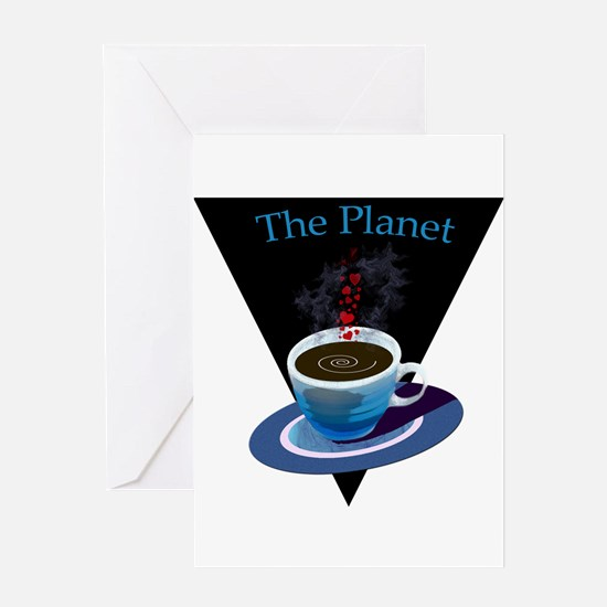 The Planet Coffee House Greeting Card