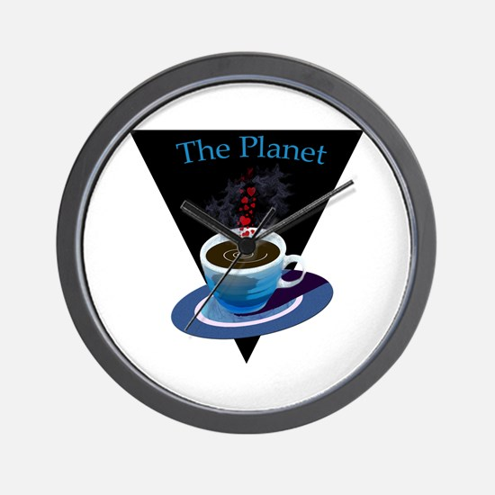The Planet Coffee House Wall Clock