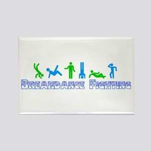 Breakdance Fighting Rectangle Magnet
