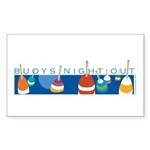 Buoys Night Out Rectangle Sticker 10 pk)