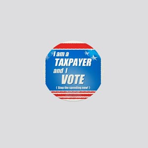 Taxpayer says STOP! Mini Button