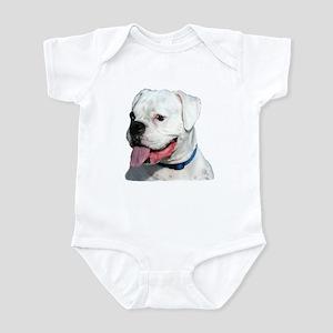 White Boxer Dog Infant Bodysuit