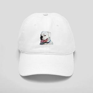 White Boxer Dog Cap