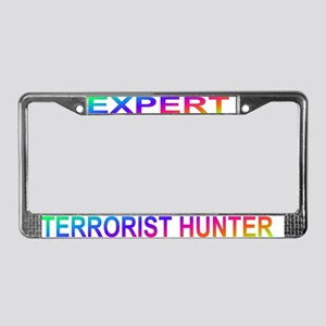 EXPERT TERRORIST HUNTER License Plate Frame
