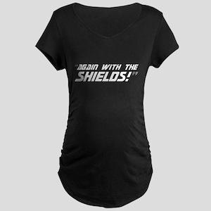 Again w/ the Shields! Maternity Dark T-Shirt