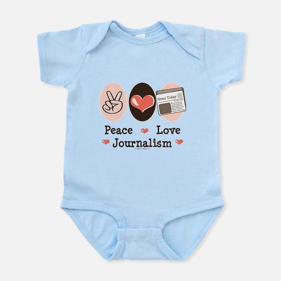 Peace Love Journalism Infant Bodysuit