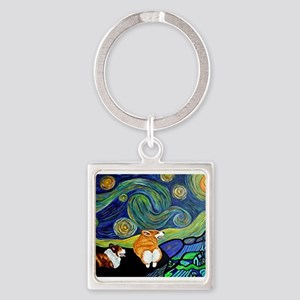 Corgi Starry Starry Night Keychains