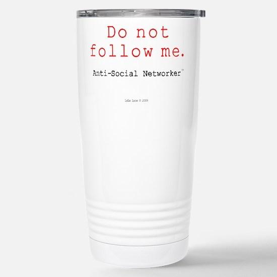 DoNotFollowMe Stainless Steel Travel Mug