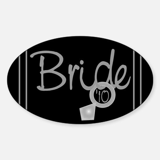 Bride '10 (ring) Oval Decal