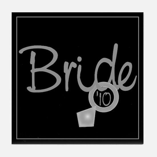 Bride '10 (ring) Tile Coaster