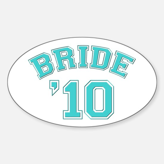 Bride '10 (sporty) Oval Decal