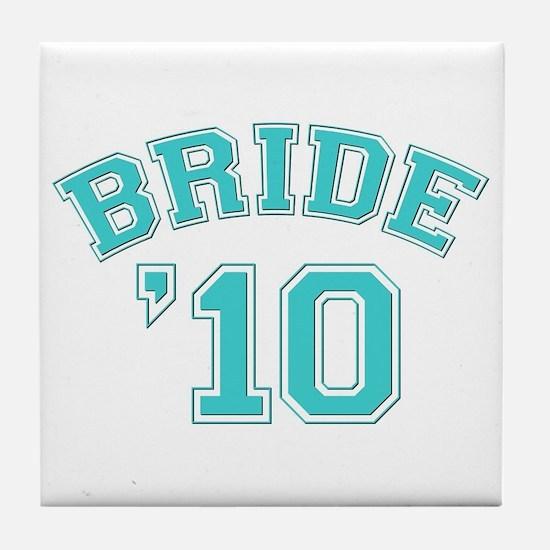 Bride '10 (sporty) Tile Coaster