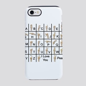 AmeslanAlphabet120710 iPhone 7 Tough Case