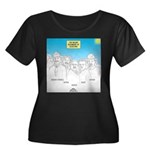 KNOTS No Women's Plus Size Scoop Neck Dark T-Shirt