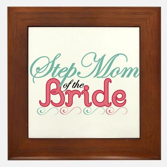 Step Mom of the Bride Framed Tile