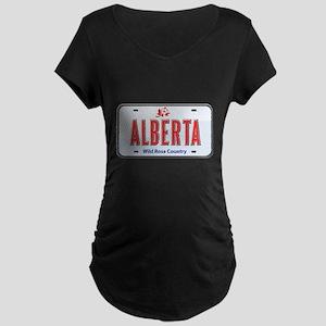Alberta Plate Maternity Dark T-Shirt