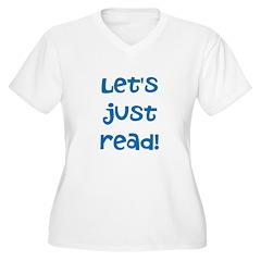 Let's Just Read Plus Size T-Shirt