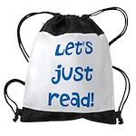 Let's Just Read Drawstring Bag