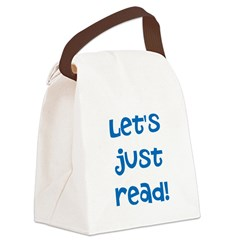 Let's Just Read Canvas Lunch Bag