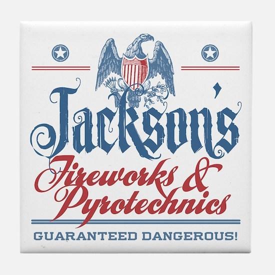 Jackson's Funny Fireworks Company Name Tile Coaste