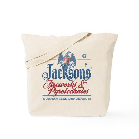 Jackson's Funny Fireworks Company Name Tote Bag
