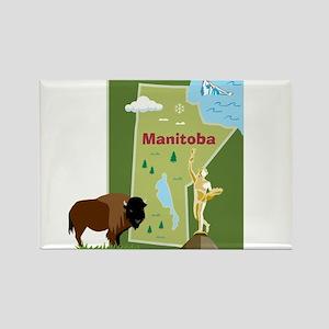 Manitoba Map Rectangle Magnet