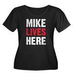 MIKE LIVES HERE Women's Plus Size Scoop Neck Dark